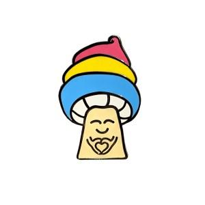 Pansexual Mushroom Pin Badge