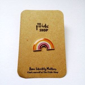 Lesbian Community Flag Rainbow Pin Badge