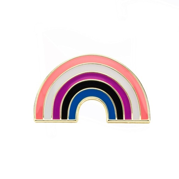 Gender Fluid Rainbow Pin Badge