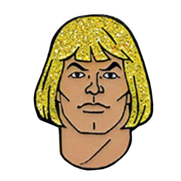 He Mann Glitter Face Pin Badge