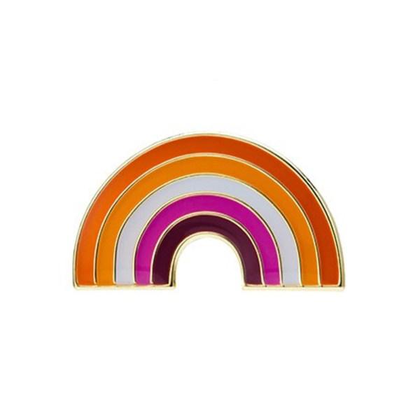 Lesbian Community Rainbow Pin Badge