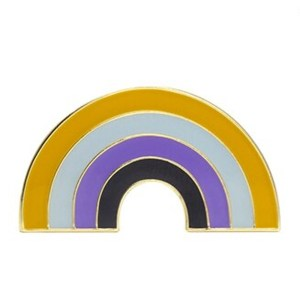 Non Binary Rainbow Pin Badge