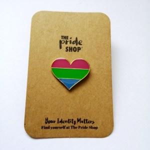 Polysexual Flag Heart Pin Badge