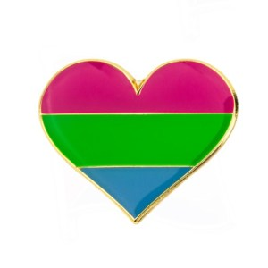 Polysexual Heart Pin Badge