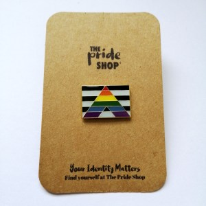 Straight Ally Flag Pin Badge