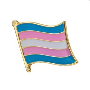 Transgender Flag Wave Pin Badge