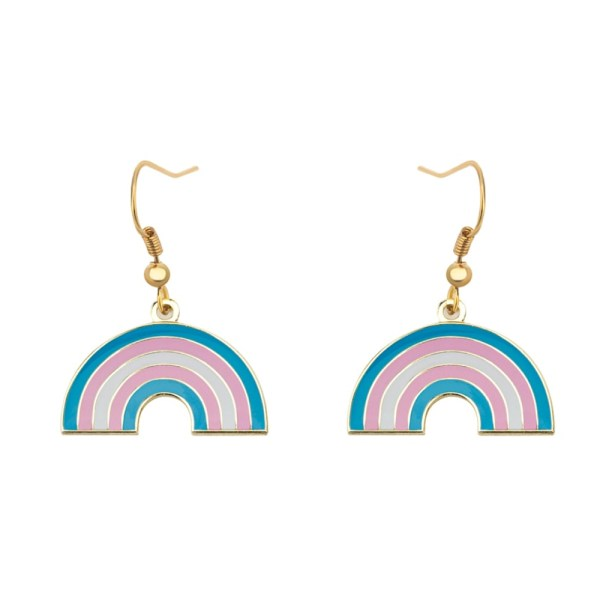 Transgender Rainbow Shape Pride Earrings