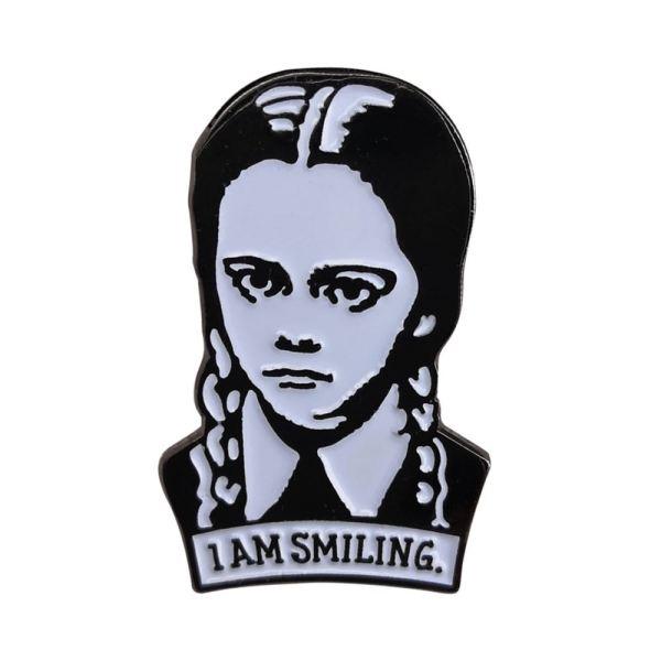 Wednesday Addams pin badge