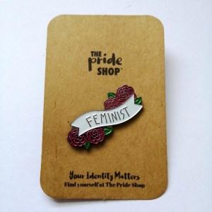 Feminist Rose Pin Badge