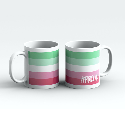 Abrosexual #PROUD Pride Mugs Pair