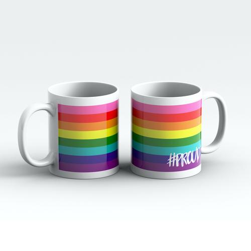 GILBERT BAKER #PROUD Pride Mugs Pair