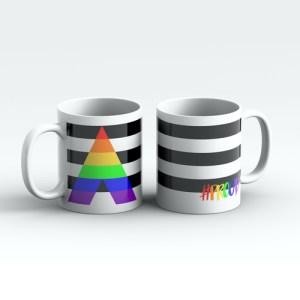 STRAIGHT ALLY #PROUD Pride Mugs Pair