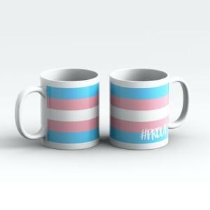 TRANSGENDER #PROUD Pride Mugs Pair