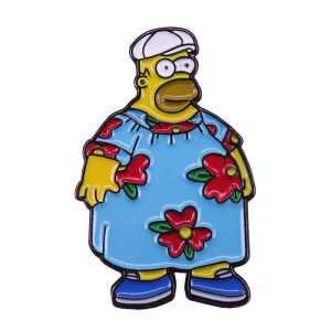 Homer Simpson king size homer pin badge