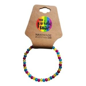 Pansexual Crackle Bead Bracelet