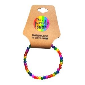 Rainbow Crackle Bead Bracelet