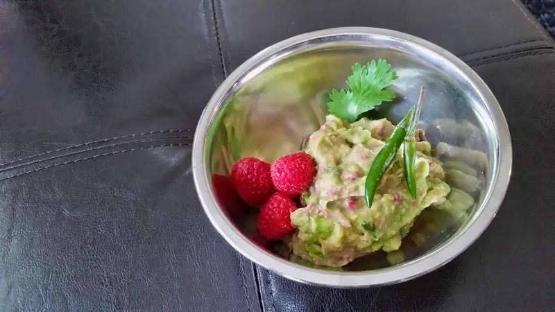 Raspberry Guacamole Salad