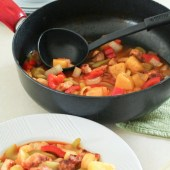 Craving Chinese food? This paleo sweet and sour pork is grain, gluten and preservative free. But the taste is dead on delicious to satisfy your urge!