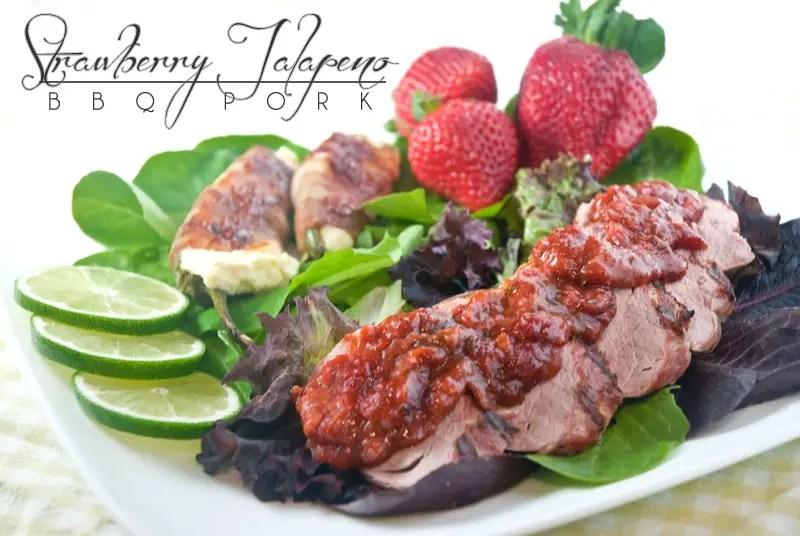 Strawberry Jalapeño BBQ Pork Tenderloin