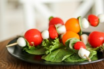 Light and easy, this simple caprese salad is good on the go, as a side, or a quick snack