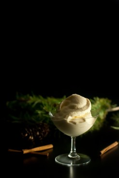 Irish Cream Eggnog Ice Cream is a simple 2-step process, only needing a freezer and a blender - http://theprimaldesire.com/irish-cream-eggnog-ice-cream-in-a-blender
