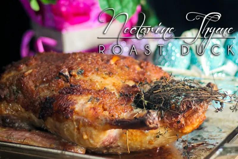 Nectarine Thyme Roast Duck