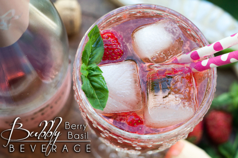 Bubbly Berry Basil Beverage