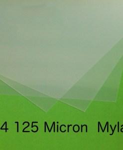A4 125 Micron Mylar