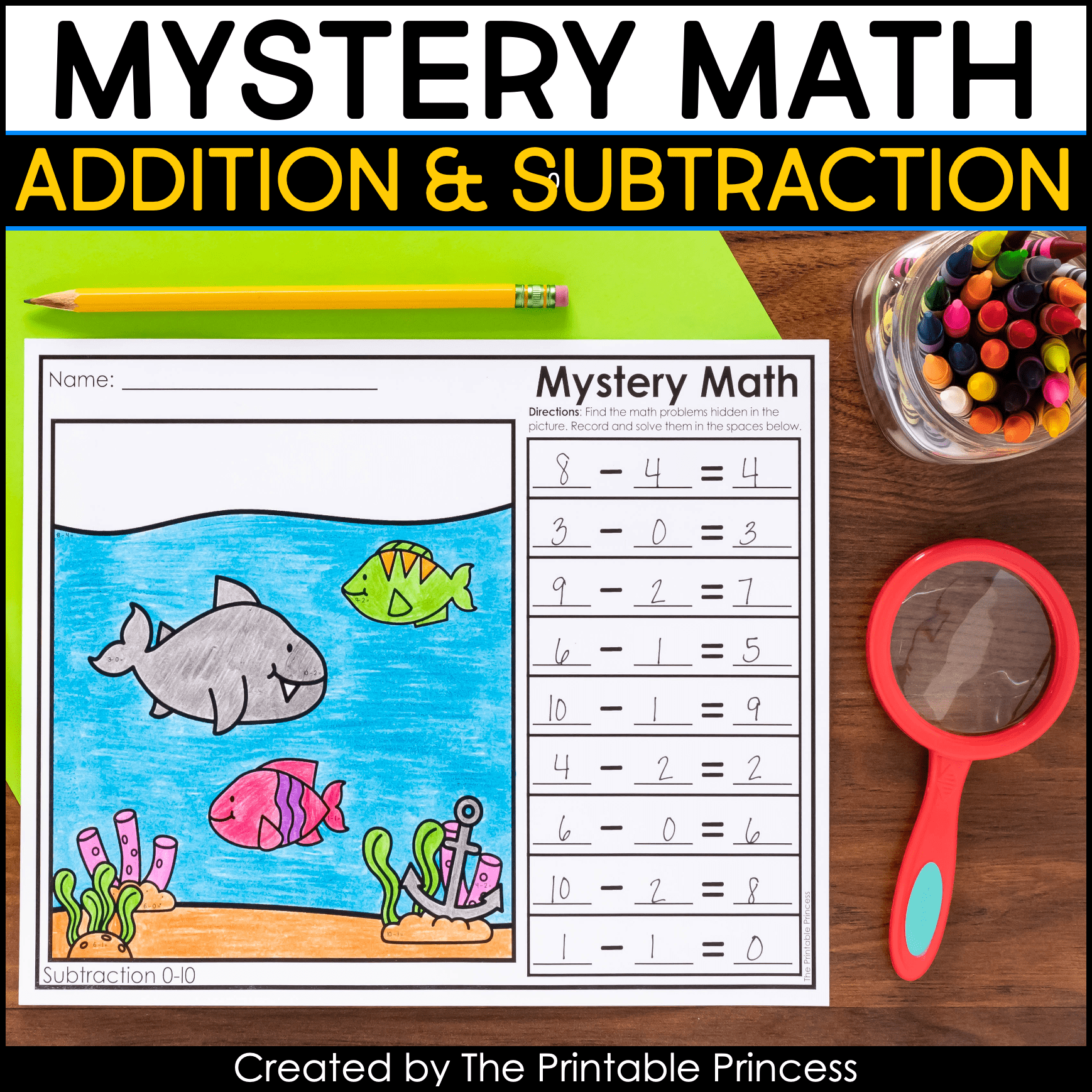 Mystery Math Addition And Subtraction Worksheets