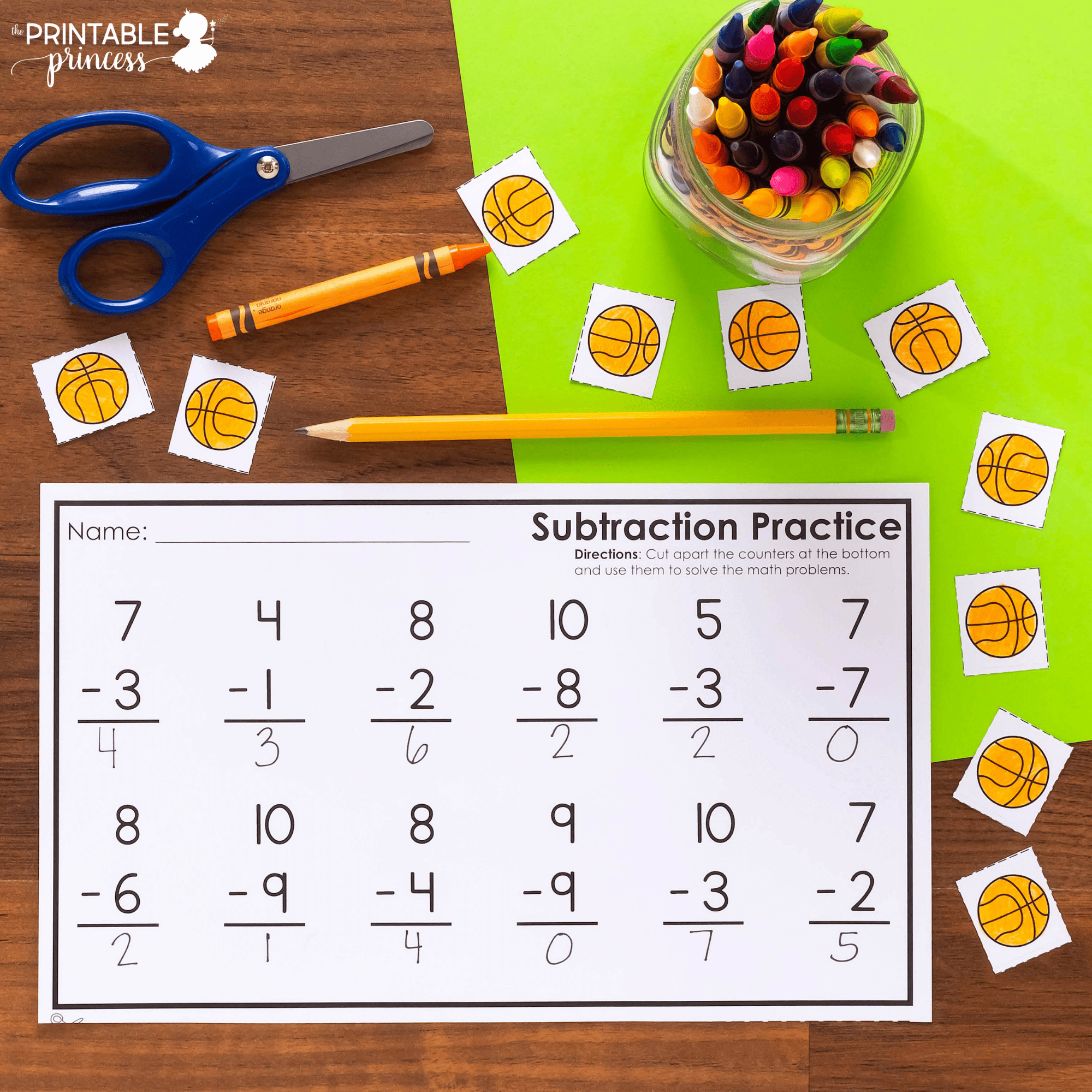 Vertical Addition Amp Subtraction Worksheets With Cut Apart