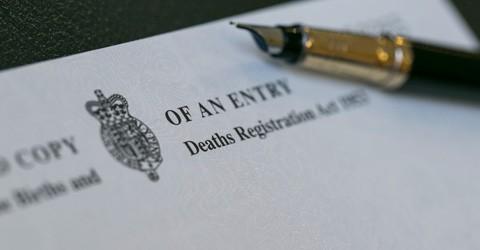 Register a death