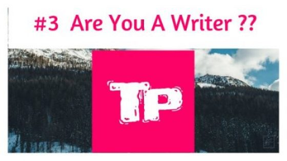 Are you a writer