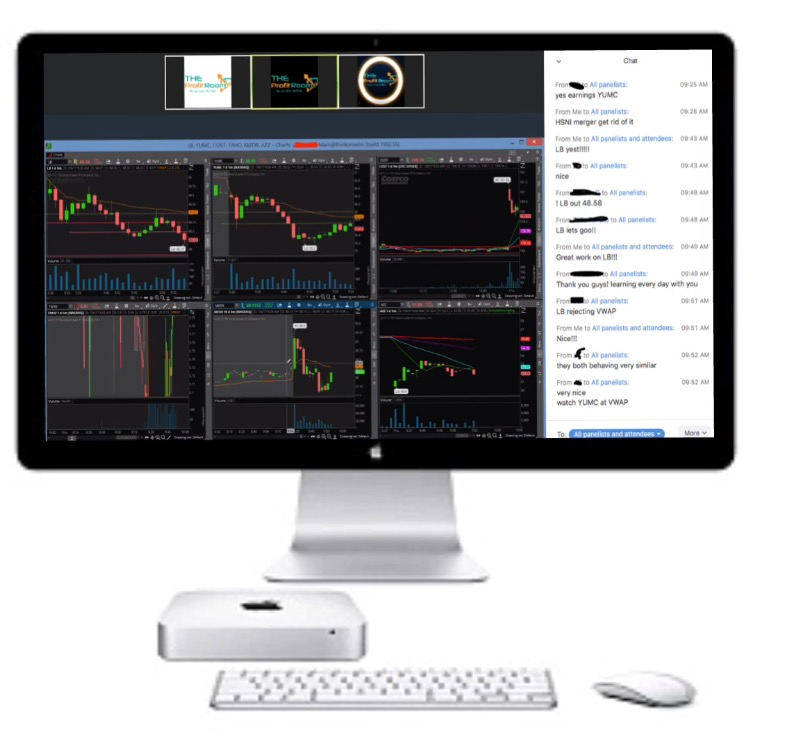 live screen share day trading room theprofitroom stocks futures