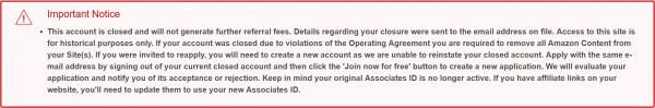 Warning affiliate link