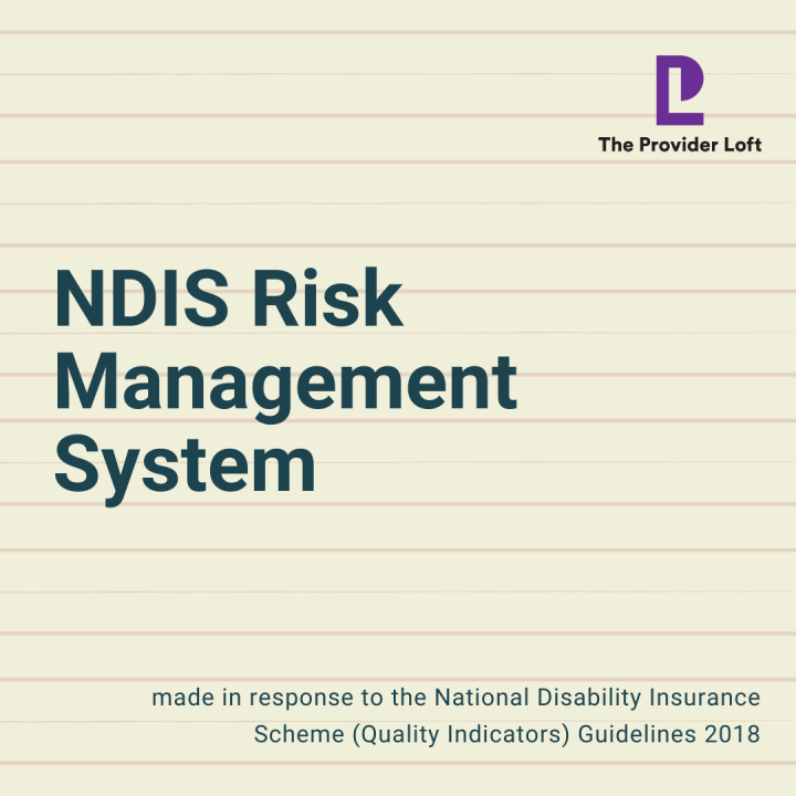 NDIS Risk Management System