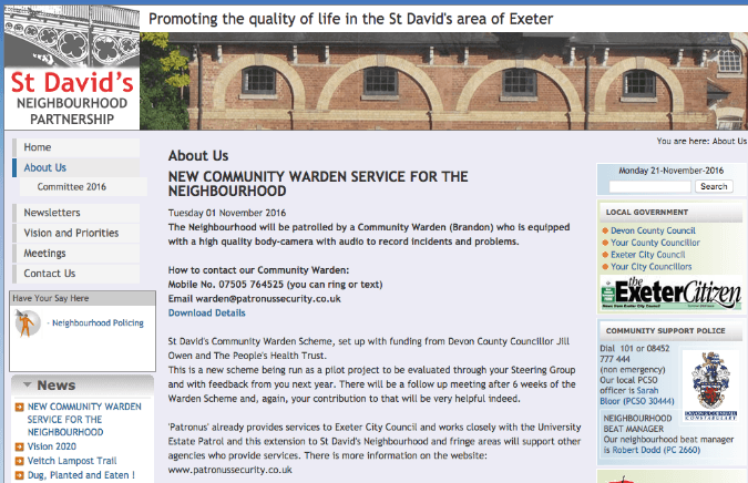 st david's neighbourhood partnership screen shot