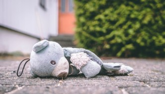 a cuddly toy left on the floor