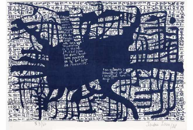 Isidore Isou - Hypergraphie, 1964 - Image via macdacat
