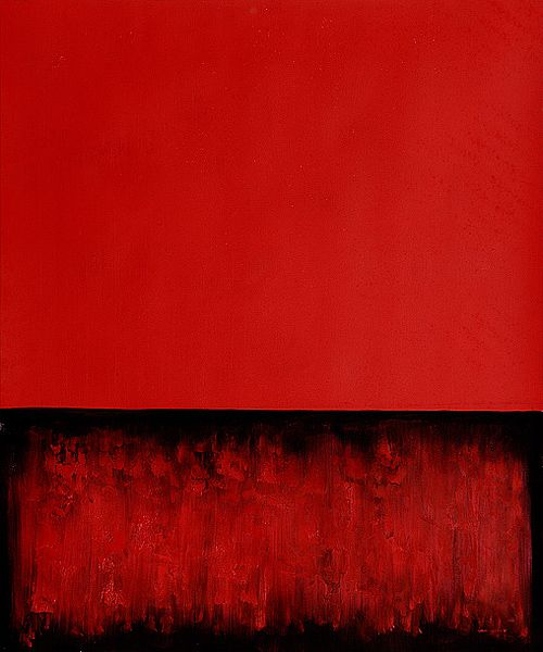 mark rothko   u201cuntitled painting in red and black u201d  1955