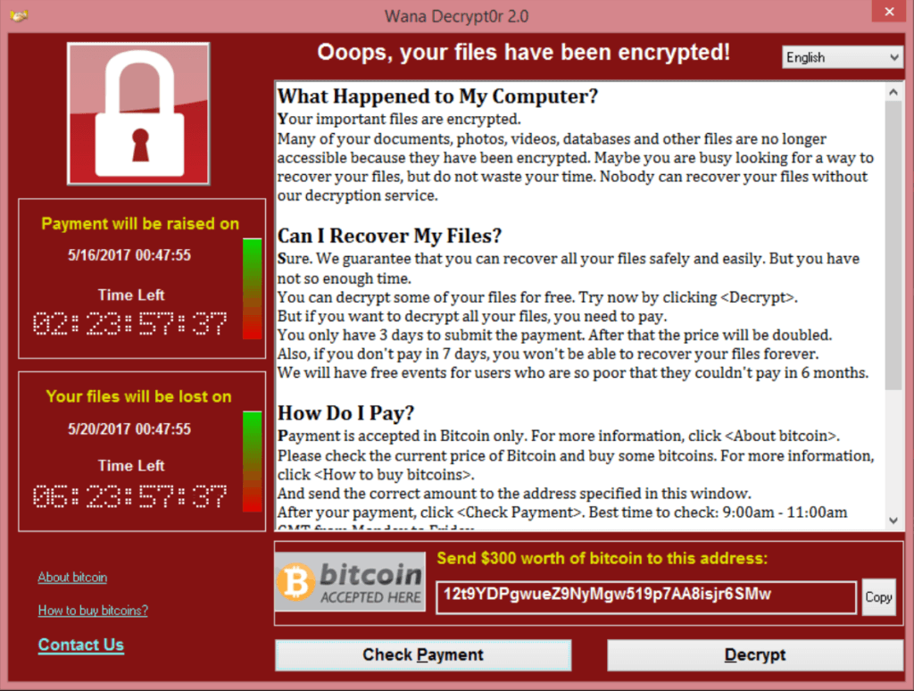 "hit by ""wannacry"" (may be you deserve it) …"