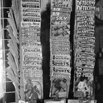 Pulps line a magazine rack in Taylor, Texas, in October 1939.