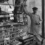 Here's another view of the Los Angeles newsstand showing the vendor and December 1939 pulps.