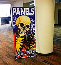 PulpFest 2015 panels sign