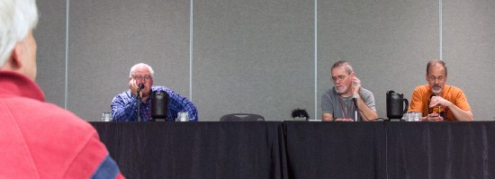 The panel included (from left) Ed Hulse, Barry Traylor and Mike Chomko.