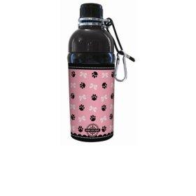 Good Life Gear Stainless Steel Pet Water Bottle, 16-Ounce, Puppy Princess Pink Design
