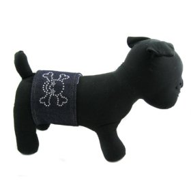 Alfie Couture Designer Pet Accessory – Rox Denim Belly Band – Size: S (for Boy Dogs)