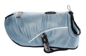 Hurtta Pet Collection Cooling Coat, 24-Inch Length, 22-1/4-Inch Neck, 28-36-Inch Chest, Blue