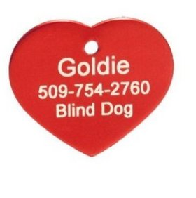 Pet Small, Red – Anodized Heart Pet ID Tag, collars and tags, puppy tags, custom pet tags Supply Store/Shop