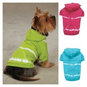 East Side Collection ZM044 08 81 Tie Dye Hoodie for Dogs, XX-Small, Raspberry
