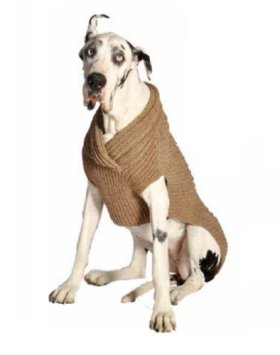 Chilly Dog Ragg Wool Cable Dog Shawl, Small